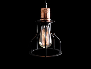 WORKER WIDE hanging lamp - black small 4