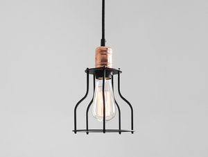 WORKER WIDE hanging lamp - black small 0