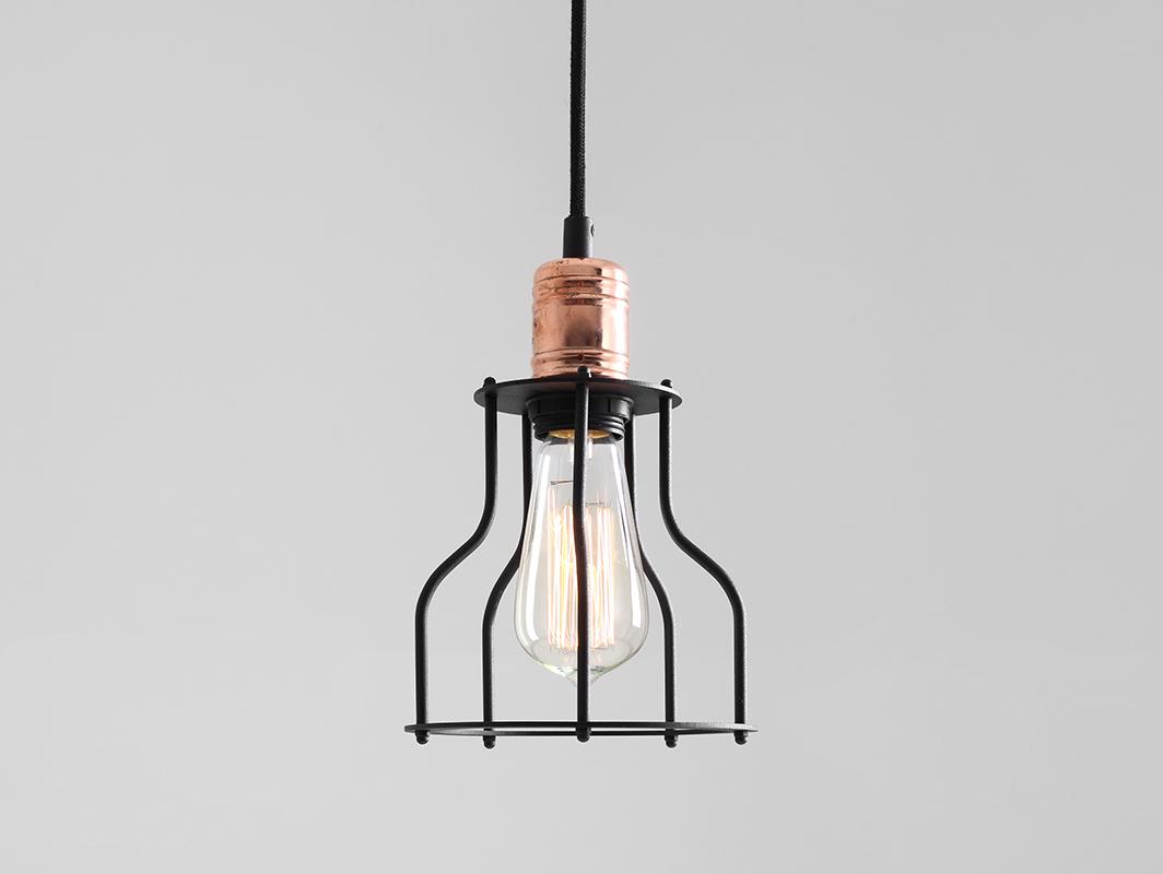 WORKER WIDE hanging lamp - black