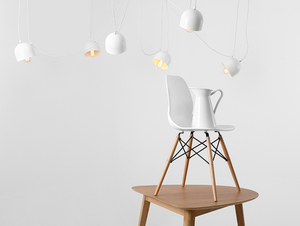 Hanging lamp POPO 6 - white small 1