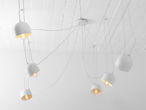Hanging lamp POPO 6 - white small 3