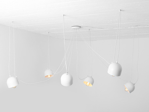 Hanging lamp POPO 6 - white small 0