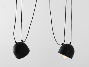 POPO 2 hanging lamp - black small 3