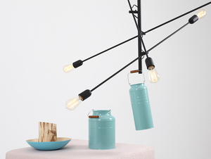 TWIGO 6 hanging lamp - black small 1
