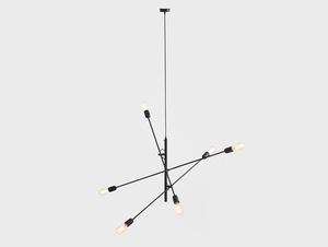 TWIGO 6 hanging lamp - black small 3