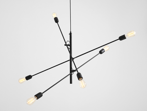 TWIGO 6 hanging lamp - black