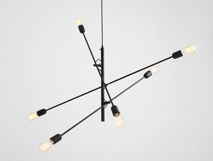 TWIGO 6 hanging lamp - black small 0