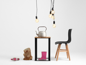 Hanging lamp SPINNE 5 - black small 2