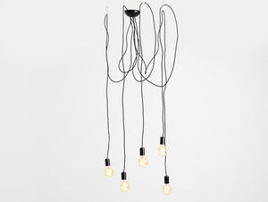 Hanging lamp SPINNE 5 - black small 0