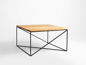 MEMO SOLID WOOD 100x100 coffee table small 3
