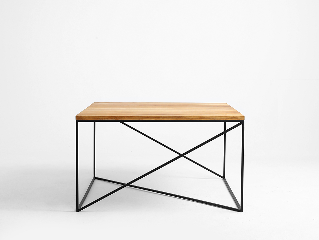 MEMO SOLID WOOD 100x100 coffee table