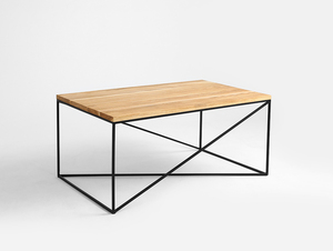 MEMO SOLID WOOD 100x60 coffee table small 3
