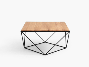 DARYL SOLID WOOD 80 coffee table small 3