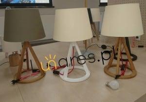 Table lamp Konan white / red- white / white E27 25W small 1