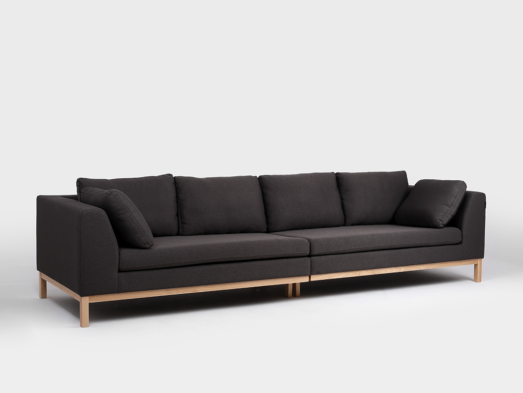 4-seat modular sofa AMBIENT WOOD