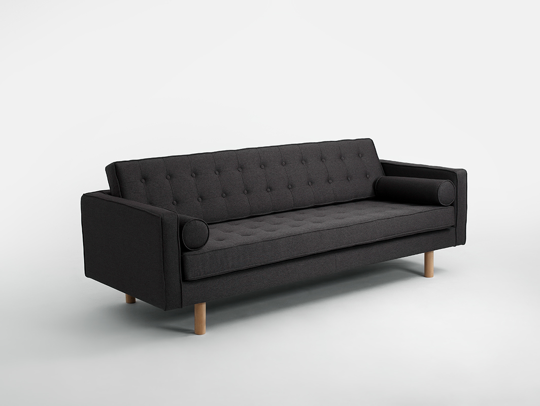 Three-seat sofa-bed TOPIC WOOD