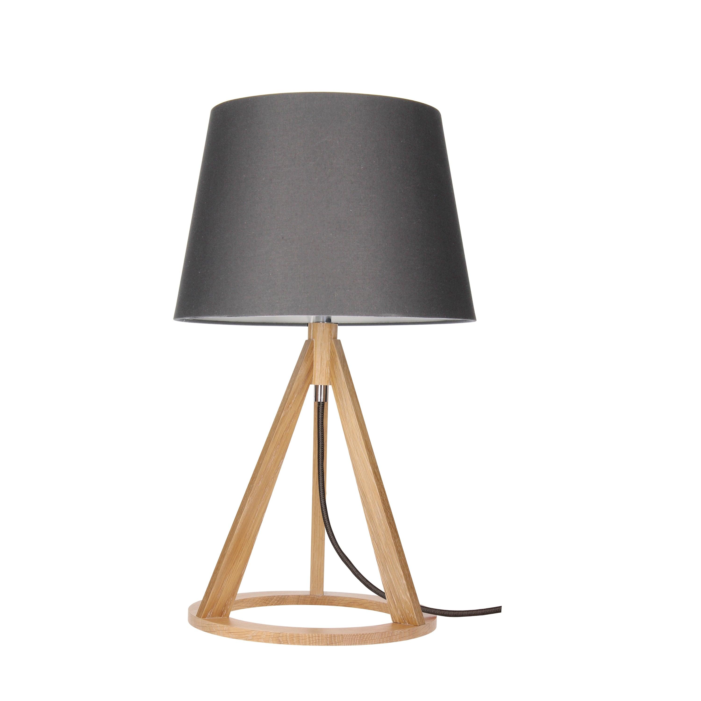 Table lamp Konan dąb / anthracite / anthracite E27 25W