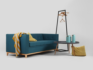 Three-seat sofa-bed by-TOM small 1