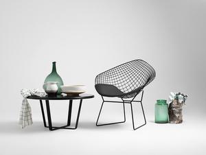 DIAMENT chair - black, black cushion small 1