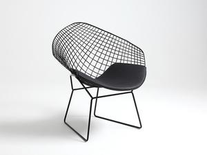 DIAMENT chair - black, black cushion small 3