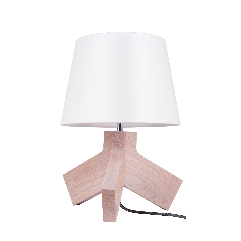 Table lamp Tilda dąb bielony / chrom / anthracite / white E27 60W