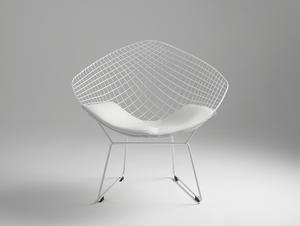 DIAMENT chair - white, white cushion small 2