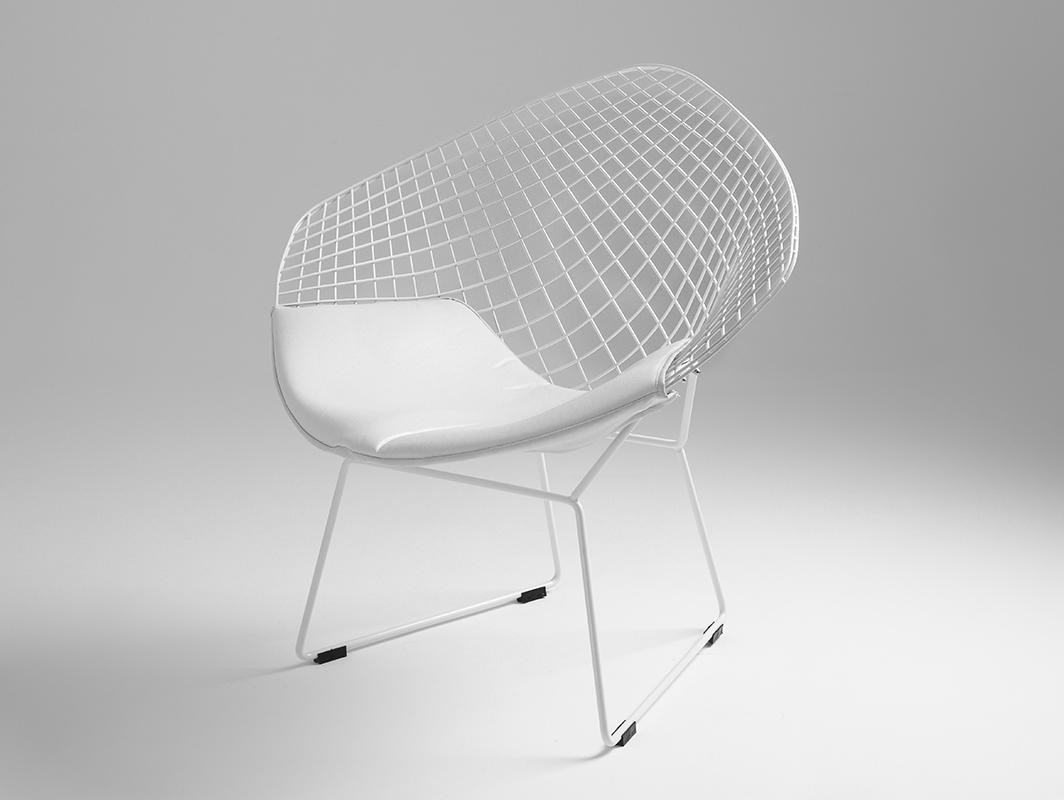 DIAMENT chair - white, white cushion
