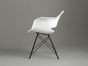MATCH ARMS METAL BLACK chair - white small 2
