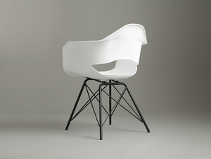 MATCH ARMS METAL BLACK chair - white small 3