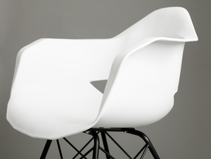 MATCH ARMS METAL BLACK chair - white small 4