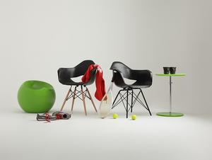 MATCH ARMS METAL BLACK chair - black small 1