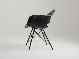 MATCH ARMS METAL BLACK chair - black small 3