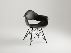 MATCH ARMS METAL BLACK chair - black small 0