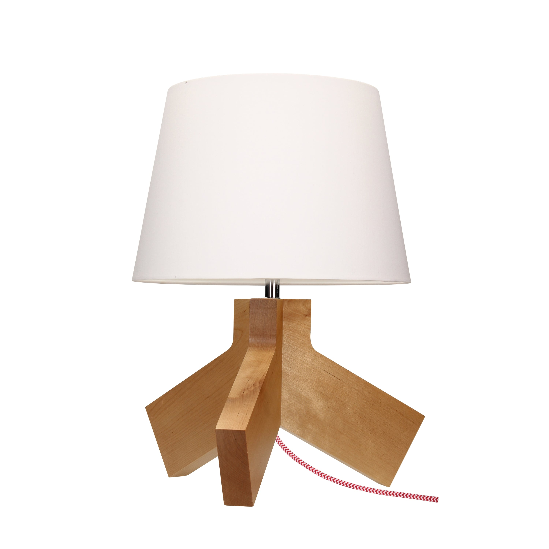 Table lamp Tilda brzoza / chrom / red-white / white E27 60W