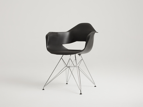 MATCH ARMS METAL chair - black