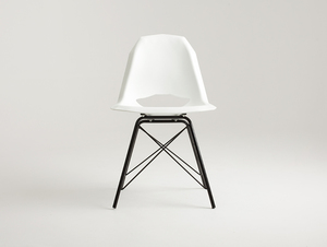 MATCH METAL BLACK chair - white small 2