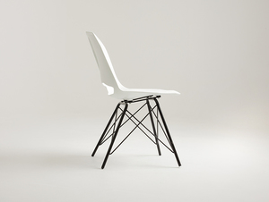 MATCH METAL BLACK chair - white small 3