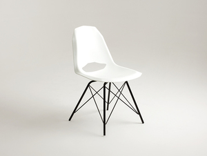 MATCH METAL BLACK chair - white small 4