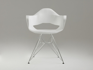 MATCH ARMS METAL chair - white small 2
