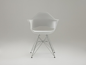 MATCH ARMS METAL chair - white small 3