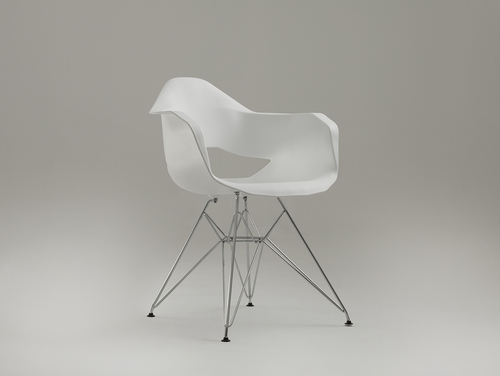 MATCH ARMS METAL chair - white