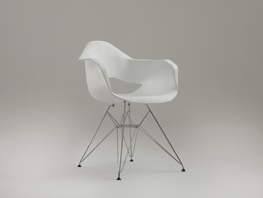 MATCH ARMS METAL chair - white