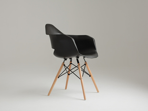 MATCH ARMS WOOD chair - black small 3