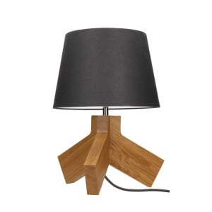 Table lamp Tilda dąb / chrom / anthracite / anthracite E27 60W small 0