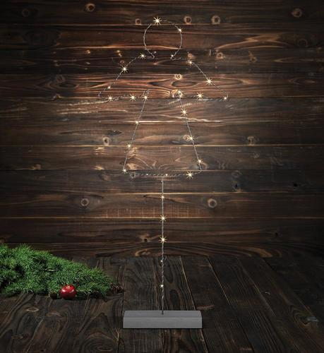 MALIN Floor decoration Angel 85cm Gray