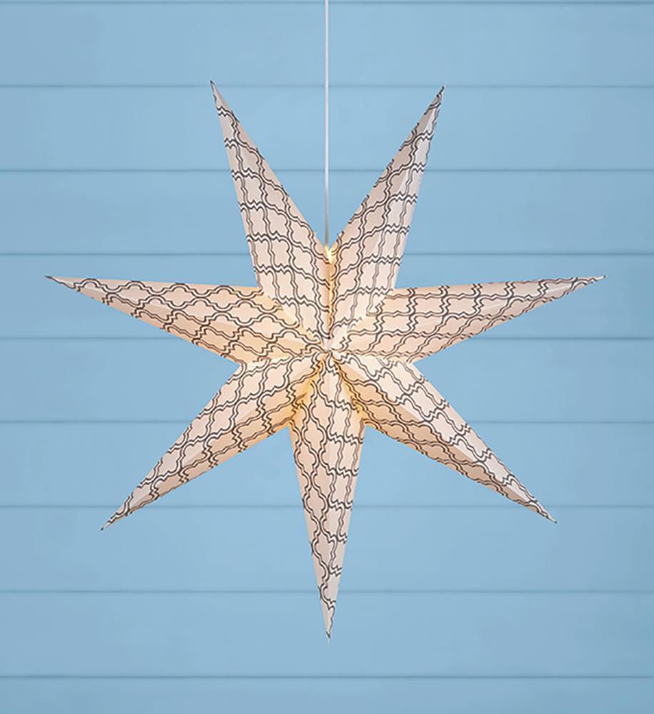 GRAFIK Standing paper star 75cm Gray / White