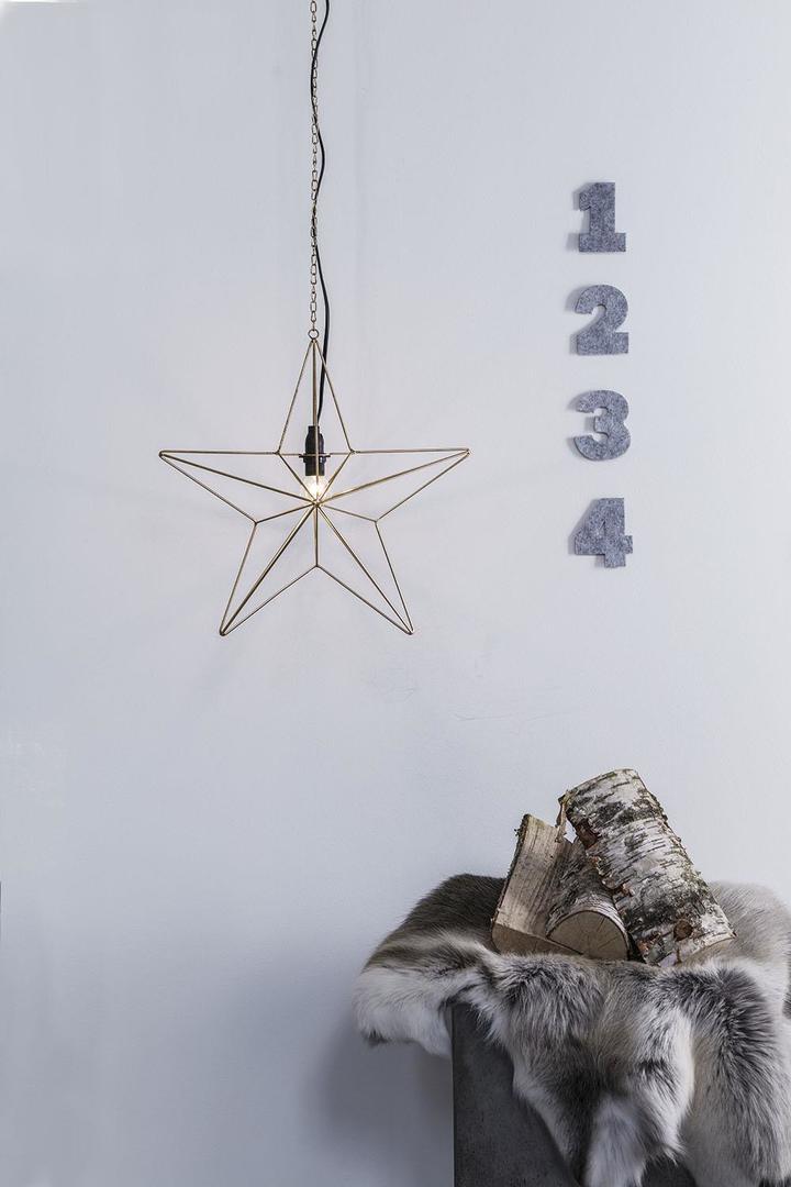 TJUSA Standing decoration 42cm E14 Golden