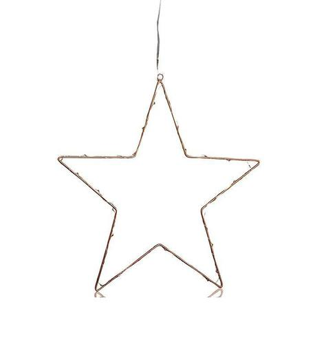 NORDGÅRD Star LED 40cm B / O With Connector Copper