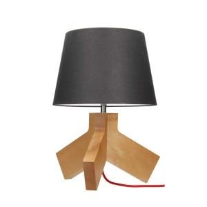 Table lamp Tilda brzoza / chrom / czerwony / anthracite E27 60W small 0