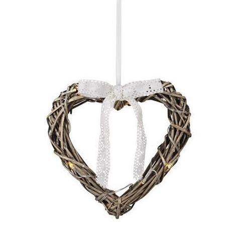 HOLSTAD Hanging Heart 25cm Gray